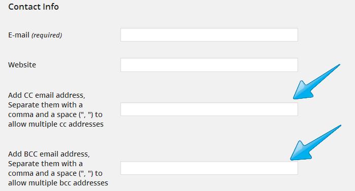 User profile fields