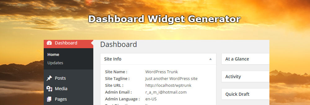 GenerateWP Dashboard Widgets Generator