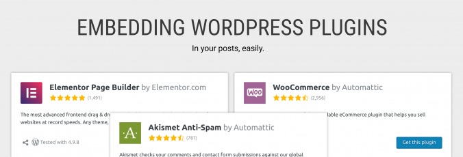 Embedding WordPress.org Plugin Pages