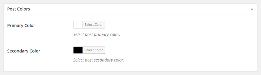 Post Colors Metabox