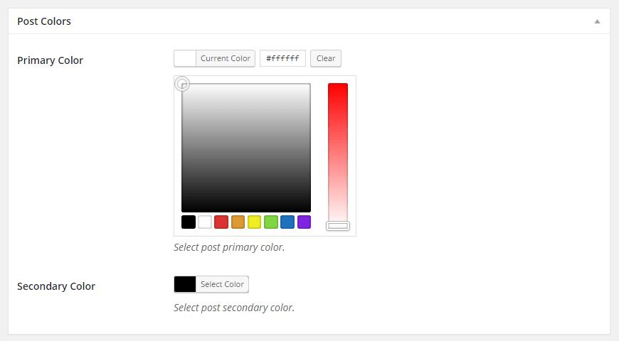 Color Picker Fields