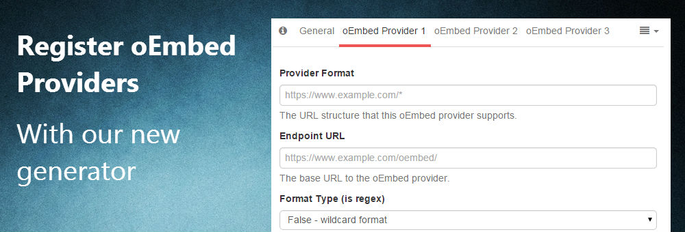 Register oEmbed Providers