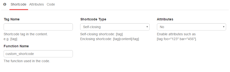 Old Shortcode Generator