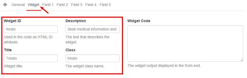 Treato Widget Appearance