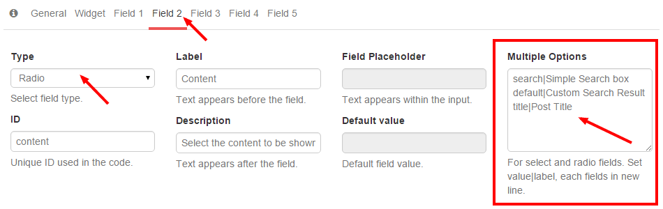 Treato Widget Field 2 - Search Term