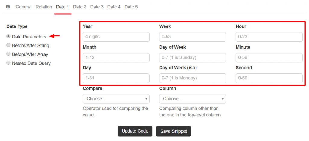 Simple Date Query Parameters