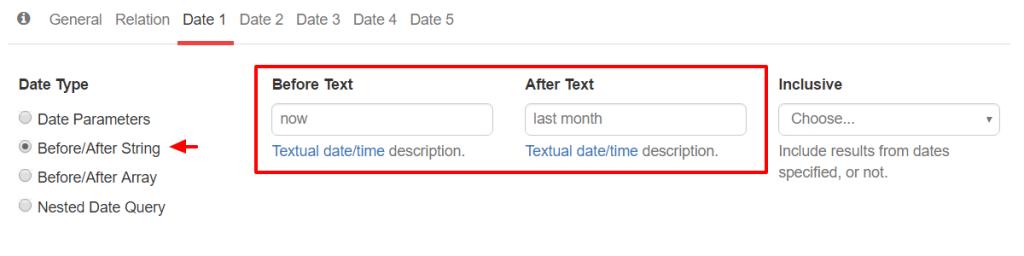WP_Date_Query Textual Description