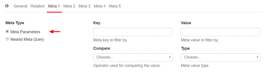 Meta Query Parameters