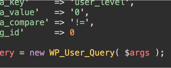 wp_user_query-generator
