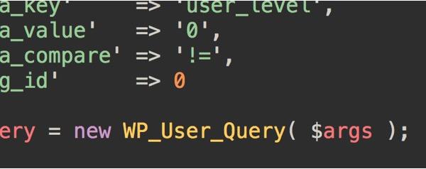 wp_user_query-generator